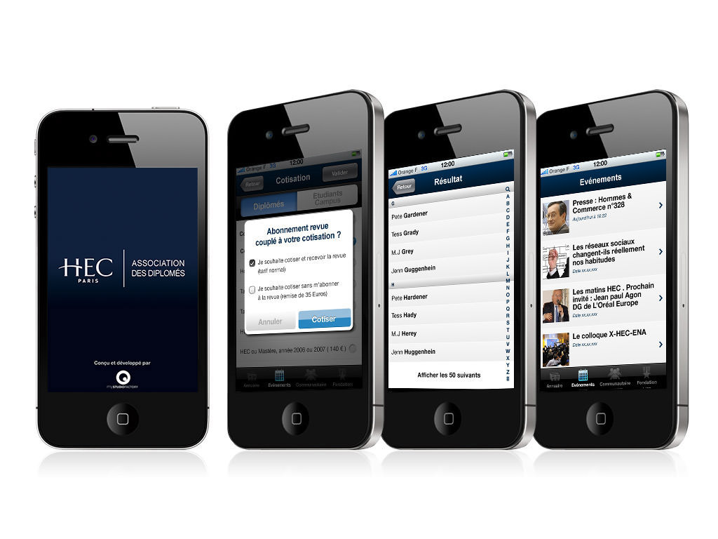 HEC sur iPhone - Design by Kermitklein.com