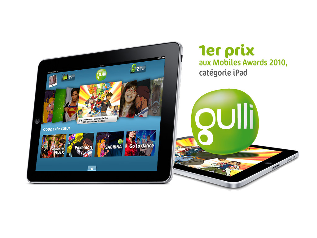 Gulli sur iPad et iPhone - Design by Kermitklein.com