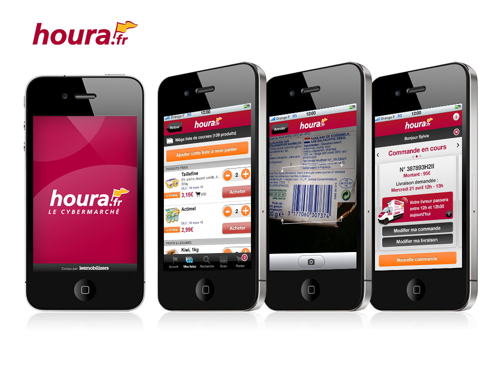 Mise à jour de l'Application Hourra.fr  - Design by Kermitklein.com - DA Mobile Freelance