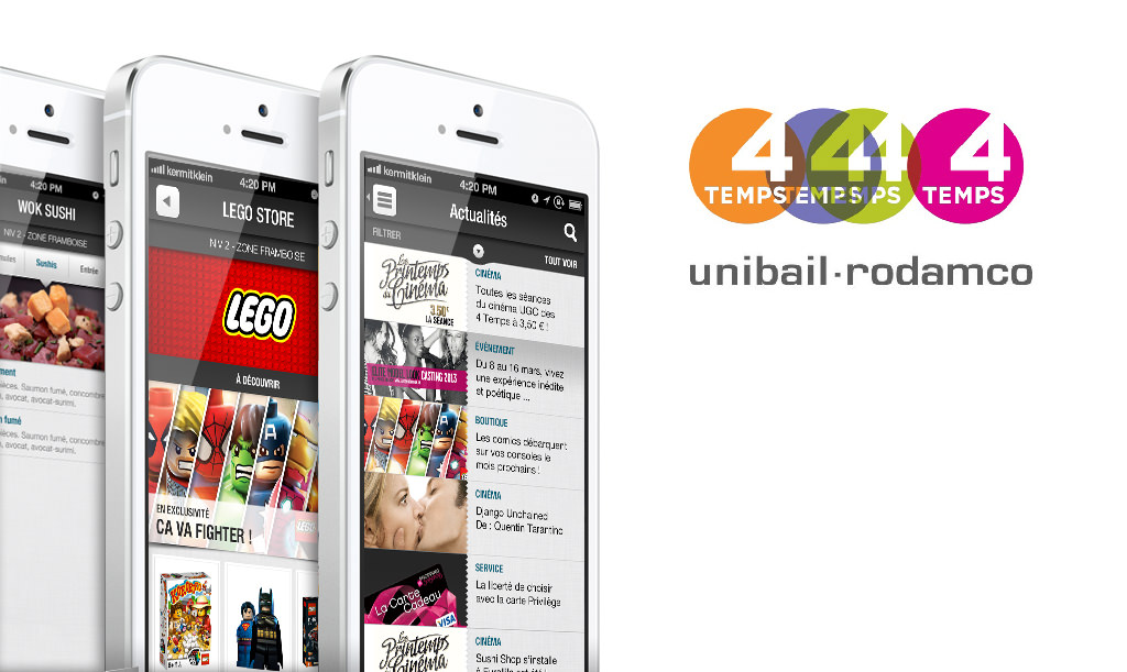 Unibail Rodamco - Application - Design by Kermitklein.com